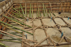 Bamboo scaffolds  in construction site. Stock Image