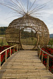 Bamboo sculpture Royalty Free Stock Images