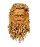 Bamboo Sculpture of a beard man Royalty Free Stock Photo