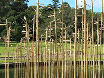 Bamboo sculpture in park Royalty Free Stock Photo