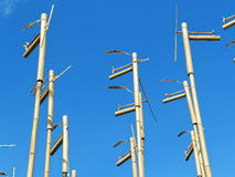 Bamboo sculpture sound and wind Royalty Free Stock Photos