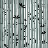 Bamboo seamless asian forest stock illustration