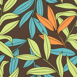Bamboo - seamless floral pattern Stock Photography