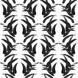 Bamboo seamless texture for fabric swatch. Vector illustration. Black and white Royalty Free Stock Photos