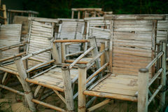 Bamboo seats Stock Photography