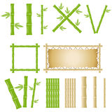 Bamboo set. Flat design, illustration stock illustration