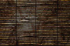 Bamboo shades. royalty free stock photos