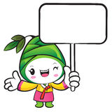 The Bamboo shoot Character holding a board. Nature Character Des Royalty Free Stock Photography