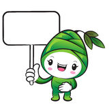 The Bamboo shoot Character holding a board. Nature Character Des Stock Photography