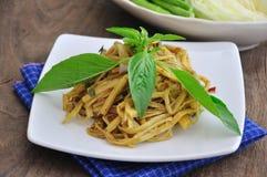 Bamboo shoot salad ,spicy  Thai Food. Royalty Free Stock Photo