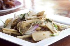 Bamboo shoot salad of Thailand style. Royalty Free Stock Photo