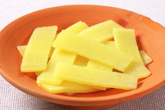 Bamboo shoot slices Royalty Free Stock Images