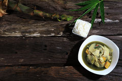 Bamboo shoot soup Thaifood Northeast genuine original. royalty free stock image