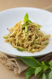 Bamboo shoot spicy slad Stock Image