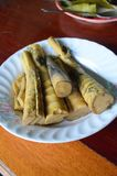 Bamboo shoot thai food Stock Images