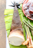Bamboo shoot vegetables Stock Image