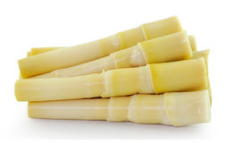 Bamboo shoot on white background Royalty Free Stock Images
