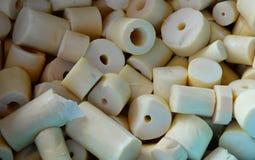 Bamboo shoot white Stock Photo