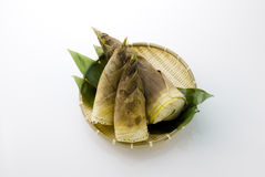 Bamboo shoots. In the basket Royalty Free Stock Photos
