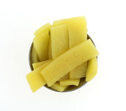Bamboo shoots in a small cup Stock Image