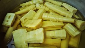 Bamboo shoots sold in the market in Asia royalty free stock images