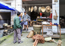 The bamboo shop in luoba town,sichuan,china Royalty Free Stock Image