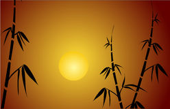 Bamboo silhouette. On a   background.Vector Stock Image