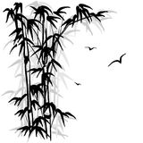 Bamboo silhouette Royalty Free Stock Photos