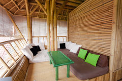 Bamboo sitting area Royalty Free Stock Photo
