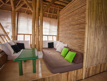 Bamboo sitting area. SItting area in bamboo house in Bali Stock Photography
