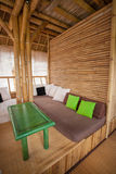 Bamboo sitting area Stock Image