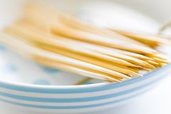 Bamboo skewers Royalty Free Stock Image