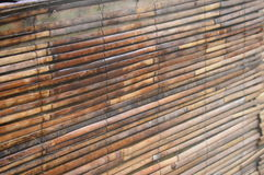 Bamboo slats. Turned into a blind Stock Images