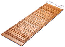 Bamboo slips. Bamboo slip used for writting on Opening Chinese traditional bamboo slips. This is one of the main media for literacy in early China.Chinese Royalty Free Stock Image