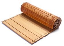 Bamboo slips. Bamboo slip used for writting on Opening Chinese traditional bamboo slips. This is one of the main media for literacy in early China.Chinese stock photo