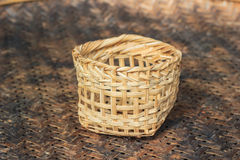 Bamboo small basket Royalty Free Stock Photography