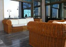 Bamboo sofa Royalty Free Stock Images