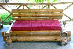 Bamboo sofa Stock Image