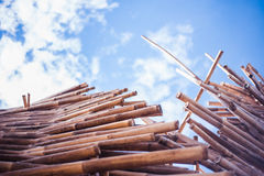 Bamboo Stack Royalty Free Stock Image