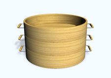 Bamboo steamer Stock Photography