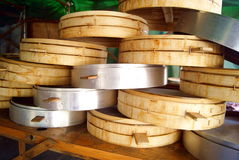 Bamboo steamer Stock Photos