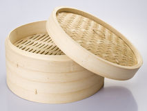 Bamboo steamer Stock Photo