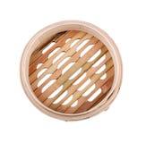 Bamboo steamer basket Stock Photo