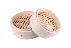 Bamboo steamer basket Stock Images