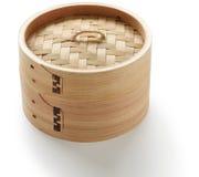 Bamboo steamer set Stock Photo