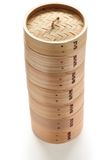 Bamboo steamer set Royalty Free Stock Photo