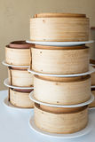 Bamboo steamer set. Royalty Free Stock Photography