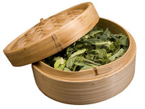Bamboo Steamer with Vegetable Stock Photo