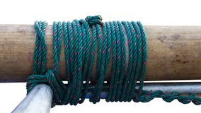 Bamboo steel ropes Stock Image
