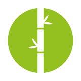 Bamboo stem natural icon Royalty Free Stock Photos
